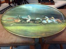 Vintage Fibreglass Tray By Keswick Trays Showing Epsom Derby By Gericault