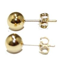 Ball Round Ball 5mm 18k Gold Plated Stud Earrings