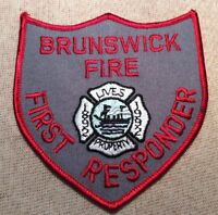 GA Brunswick Georgia Fire First Responder Patch (4In)