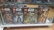 ESPECTACULAR LOTE DE 3 FIGURAS LEGO STAR WARS  75110 +  75108 + 750112