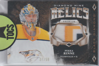 Pekka Rinne 2018-19 UD Black Diamond Mine Relics 3 Color Patch 37/50 Nashville