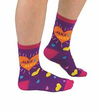 Cockney Spaniel Socks Mrs And Mrs Brides Cotton Hearts Colourful Wedding Gift