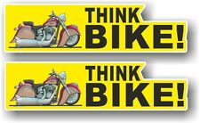 2pcs Motorcycle THINK BIKE Slogan & Koolart Retro Easy Rider image car sticker