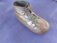 Bronzed Leather with Laces Baby Shoe 1920-1930