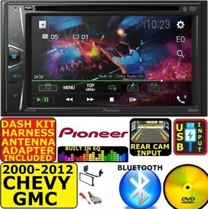 2000-2012 CHEVY GMC PIONEER CD/DVD BLUETOOTH USB CAR RADIO STEREO SYSTEM PACKAGE