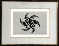 AUTHENTIQUE PEINTURE OP ART CINETIQUE EPOQUE 1970 SIGNEE LORETO  (16)