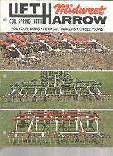 1979 MIDWEST LIFT HARROW TRACTOR  DISK CULTIVATOR PLOW BROCHURE