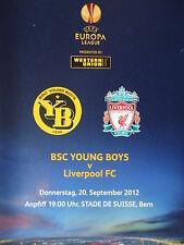 Programm UEFA EL 2012/13 Young Boys Bern - Liverpool FC
