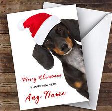 Funny Dachshund Sausage Dog Animal Personalised Christmas Card
