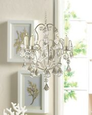 Shabby Ivory Chic Chandelier - CRYSTAL CHIC HOME DECOR - Lights Lighting