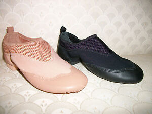 Capezio Techno-Jazz Slip On Dance Shoe TJ20 Adult Black or Suntan New In Box