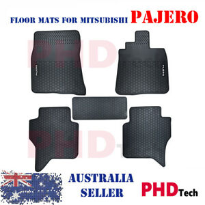 MITSUBISHI PAJERO NS NT NW NX 2006-2020 5DR All Weather Rubber Car Floor Mats