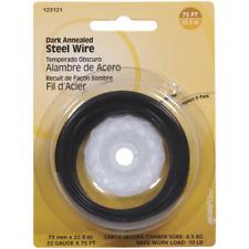 100 Pk Hillman 22 Ga X 75' Black Annealed Steel General Purpose Wire 123121