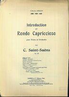 C. SAINT-SAENS - Introduction und Rondo Capriccioso Op. 28 Violine und Klavier