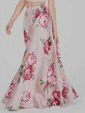 $199 City Studio Juniors Women's Pink Floral Formal Maxi Skirt Size 0