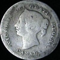 1872-H AG Details Canada Silver 5 Cents - KM# 2