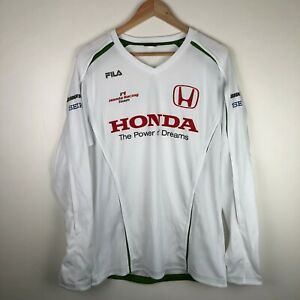 Fila Formula One F1 Honda Racing Team Long Sleeve T-Shirt Size XL
