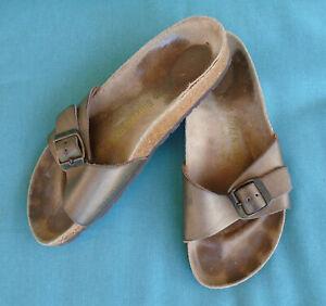 BIRKENSTOCK Sandals MADRID Birko Flor METALLIC BRONZE Womens 5 (36) Narrow