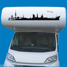 Autoaufkleber Hamburg Skyline 80 bis 100cm für Wohnmobile LKW PKW Wohnwagen H11