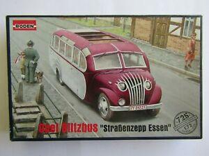 """RODEN Opel Blitzbus """"Strabenzepp Essen"""" 1/72 Scale"""