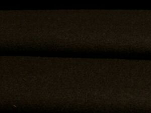 ITALIAN SOFT MERINO WOOL TWILL FLANNEL- BROWN-JACKET FABRIC -FREE P+P