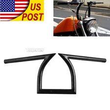 "Black 1"" Drag Handlebar Z Bar Fit Harley Chopper Bobber Cruiser Cafe Racer Bike"