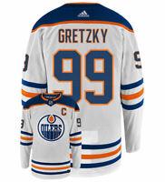 Wayne Gretzky Edmonton Oilers Adidas Authentic Away NHL Vintage Hockey Jersey