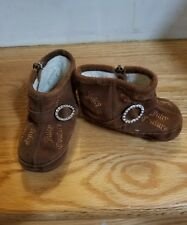 Juicy Couture Baby Girls Brown Booties Size 4