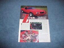 "1977 Chevy Camaro Z/28 RestoMod Article ""Z Car"""