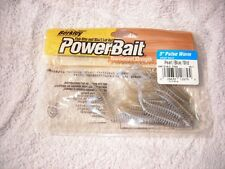 "BERKLEY 3"" DROP SHOT POWER PULSE WORM (pearl blue shad)  1 > 15 count bag *"