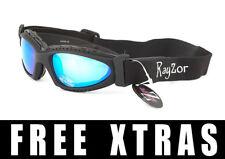 RAYZOR UV400 NEGRO 2n1 CICLISMO MTB Gafas de sol azules lente espejo PVP $119