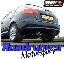 Milltek SSXVW046 Audi A3 2.0T FSI Quattro 5 DOOR Exhaust Cat Back Non Res 2.75""