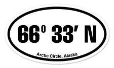 "Arctic Circle Alaska Oval car window bumper sticker decal 5"" x 3"""