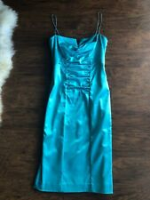 Nicole Miller Collection Teal Blue Cocktail Dress, Sz 6