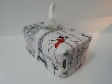 Paris Lady In Red Tissue Box Cover With Circle Opening - Great Gift!