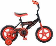 """12""""  Boys Bike Black and Red with Training Wheels Bicycle"""