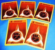 5 x Pokemon Energy Cards Old Gen Style Psychic Rock Brown Near Mint