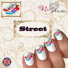 Street Art Sneakers Dance Hip Hop Nail Sticker Water Decals Transfer Stickers