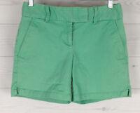 LOFT Riviera Women's Size 0 Low Rise Green Bar Hook Fly Flat Front Chino Shorts
