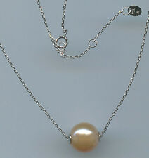 925 STERLING SILVER & 12MM TO 13MM PINK FRESHWATER PEARL NECKLACE