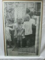 FIRST LOVE BLACK AND WHITE VINTAGE POSTER GARAGE 1973 CNG135