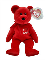 Ty Beanie Babies Ty I Heart Love Bear Canada Exclusive 8.5 inch 20cm New MWMT