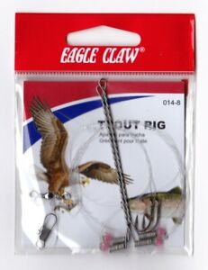 NEW! Trout Rig - Eagle Claw Size 8 Premium Hooks, Fishing Gear - Free Shipping!