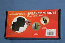 NEW - Monoprice Speaker Mounts - Holds up to 10lbs  MB-20(E)  Black