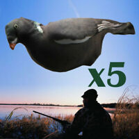 5/10pcs Flocked Full Body Pigeon Covers 3D Realistic Pull Flexible Fabric Decoys