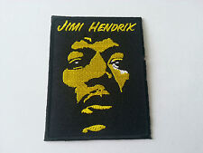 HEAVY METAL PUNK ROCK MUSIC SEW / IRON ON PATCH:- JIMI HENDRIX (a) BLACK EDGING