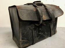 Antique 1800s Leather Doctors Bag / Suitcase / Tool-Box / File Carrier Satchel