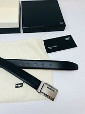 MONTBLANC *MST* Leder Riemen + Gürtel 125 x 3 cm Belts schwarz NP:395€ -1720