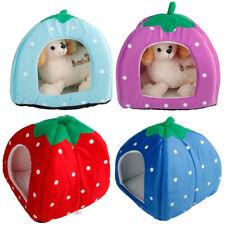 Soft Cotton Colorful Strawberry Multi-purpose Pets Dog Cat Bed House Nest Yurt