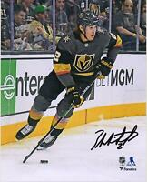 "Zach Whitecloud Vegas Golden Knights Signed 8"" x 10"" Black Jersey Skating Photo"